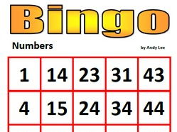 Numbers Bingo (with powerpoint calling)