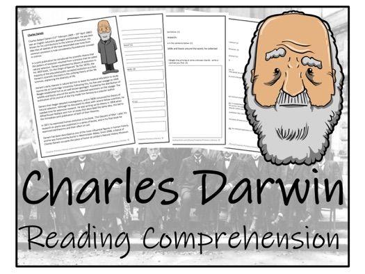 UKS2 Literacy - Charles Darwin Reading Comprehension Activity