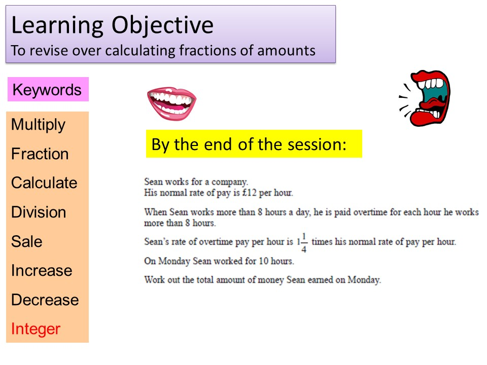 GCSE 1-9 Foundation Fractions Of Amounts Revision