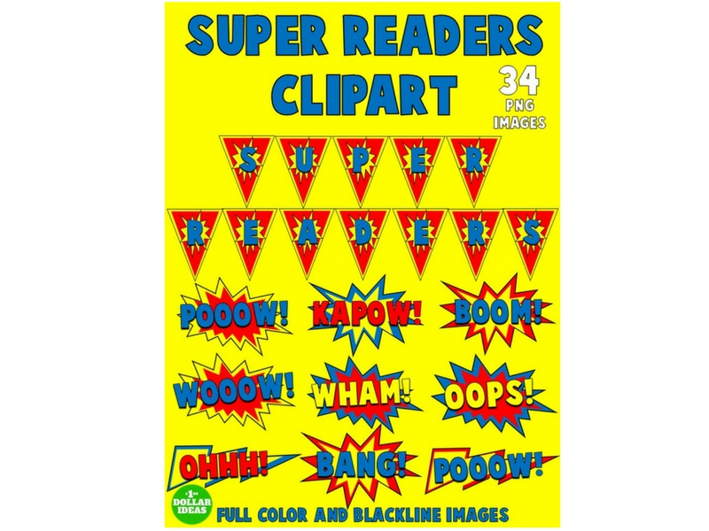 SUPER READERS CLIPART
