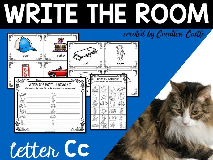 Alphabet Write the Room - Letter C