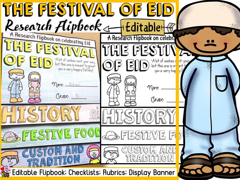 EID EDITABLE FLIPBOOK: INFORMATIONAL WRITING RESEARCH TEMPLATE