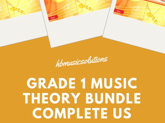 Beginner Music Theory US Version Printable And Interactive Bundle