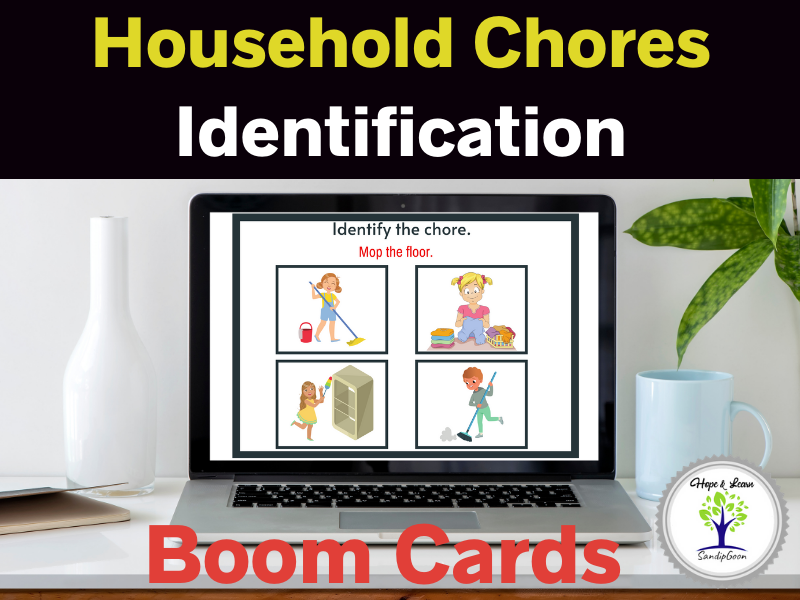 Household Chores Identification Boom Cards Life Skills Special Education