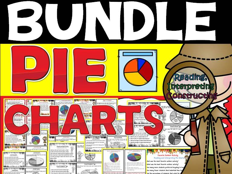 PIE CHARTS: PRINT-N-GO SHEETS AND TASK CARDS