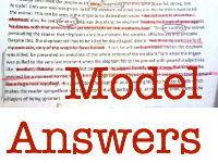Grade 7 sample responses to AQA Language paper 2