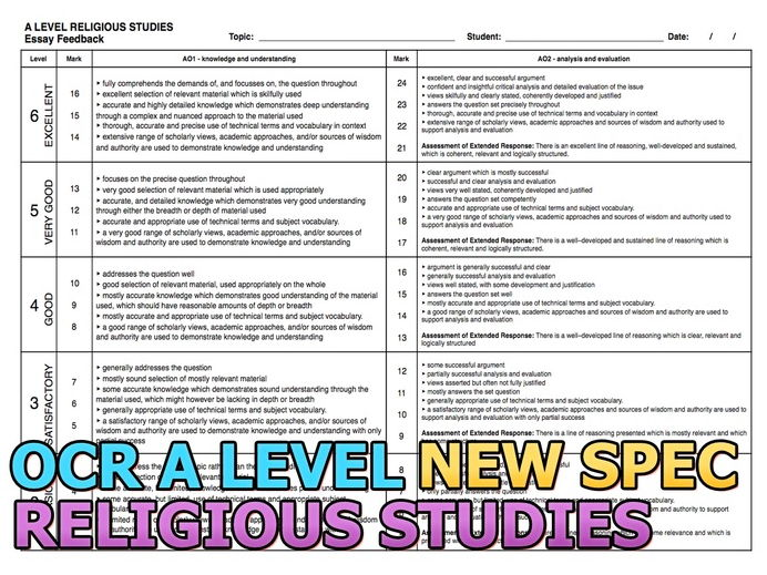 ocr religious studies essays Gcse rs revision resources including recent past papers from the ocr exam board.