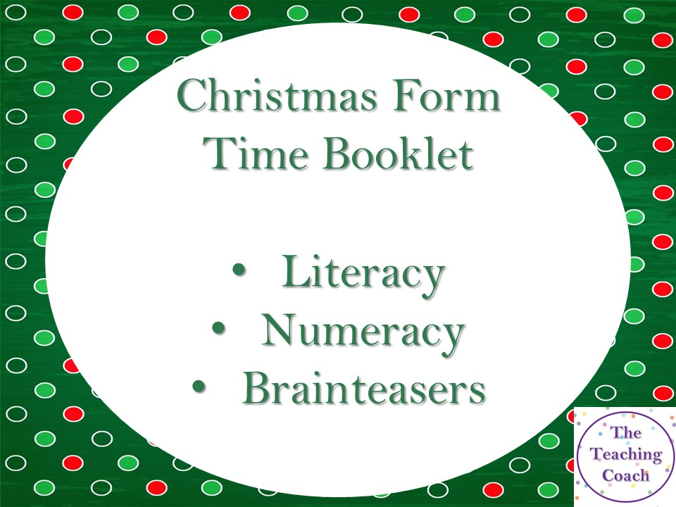 Christmas Form Time Activities Booklet - Tutor Time - Head of Year
