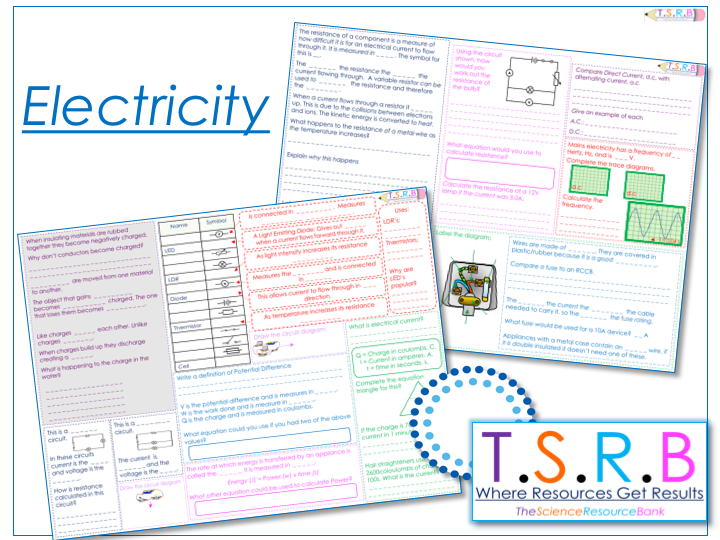 Electricity Revision Mats (2) (Section 2 iGCSE Physics, Edexcel)
