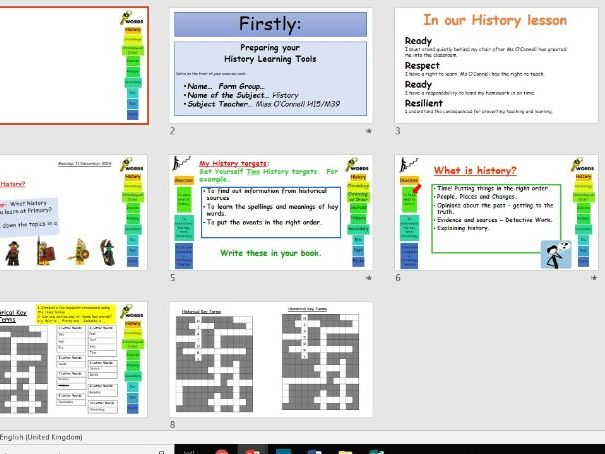 Year 7 Chronology Introduction