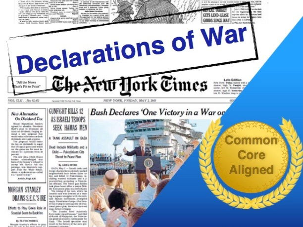 Declarations of War: Pearl Harbor to 9/11 with Inferences