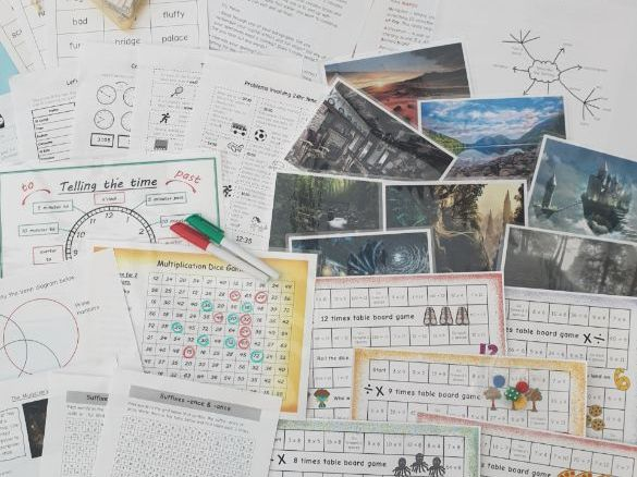Home Learning Pack Year 6 Age 10-11 Multiplication Games Creative Writing Time