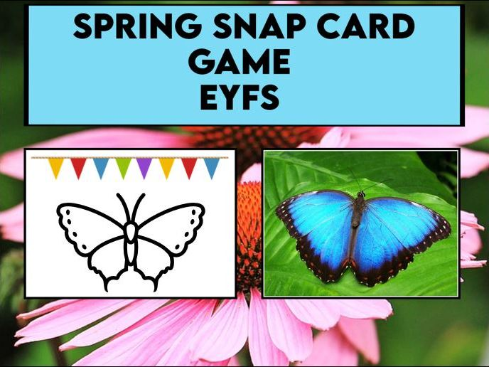 Spring Snap Card Game EYFS / SK1
