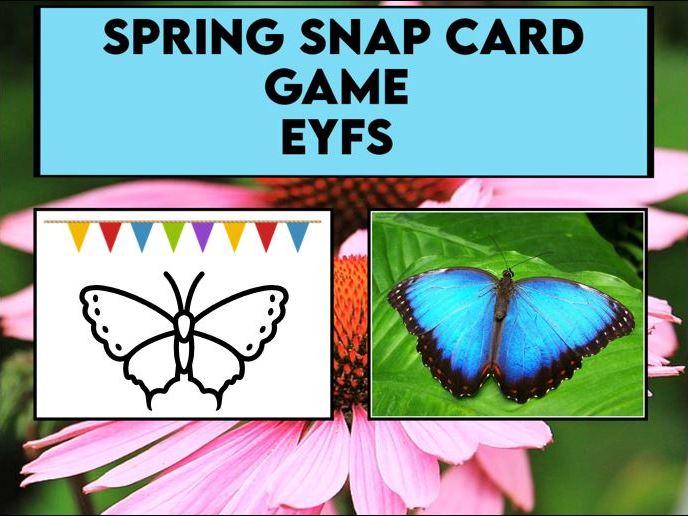 Spring Snap Card Game EYFS / SK1