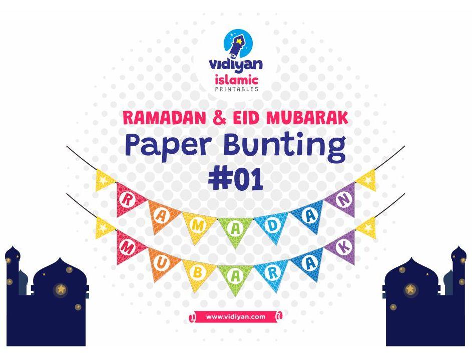 Ramadan & Eid Mubarak Paper Bunting #01
