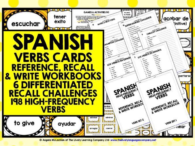 SPANISH VERBS CARDS & WORKBOOKS