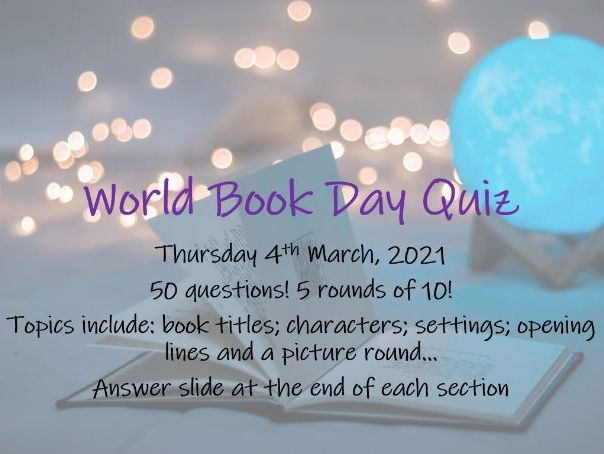 World Book Day 50 Question Quiz