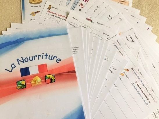La Nourriture: a booklet of French worksheets