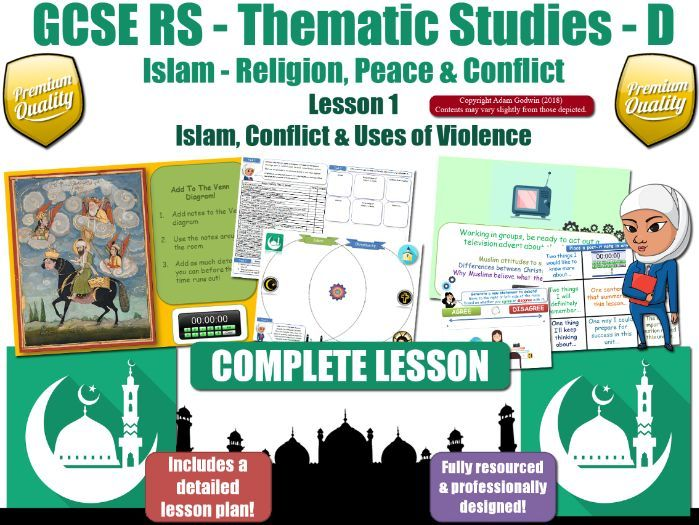 War & Violence - Comparing Muslim & Christian Views (GCSE RS - Islam - Peace & Conflict) L1/7