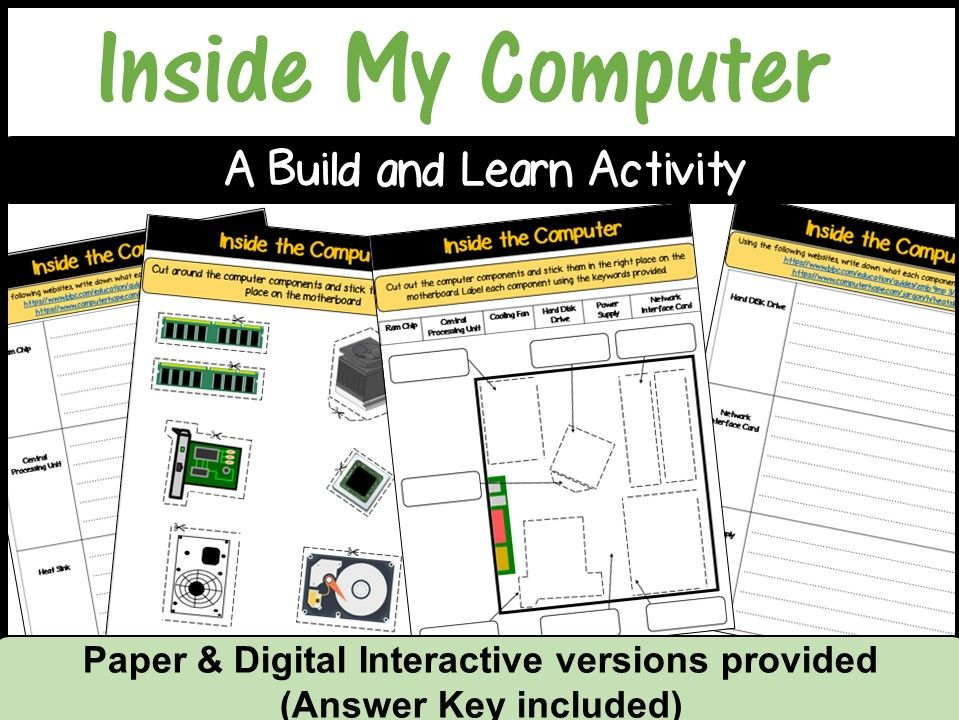 Inside The Computer - A Build & Learn Activity (Interactive & Paper Version)