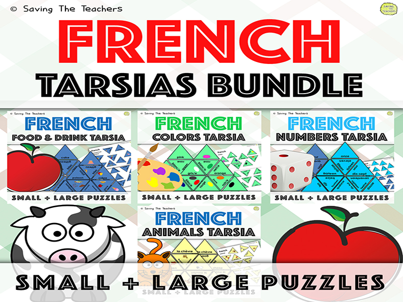 French Language Skills Tarsia Puzzles Bundle