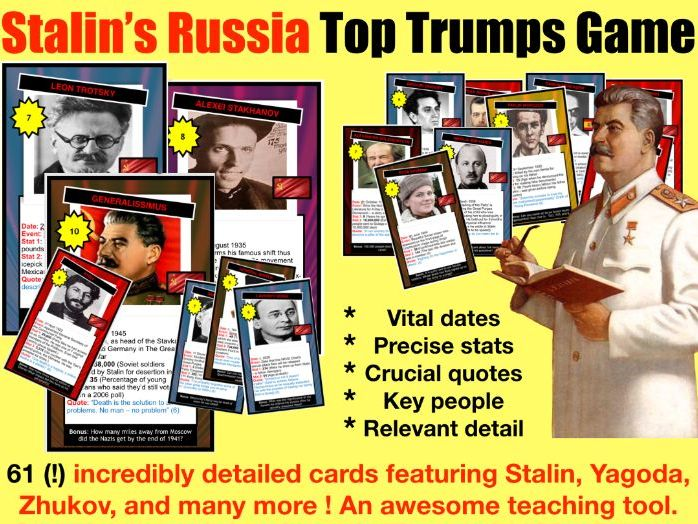 Fun Stalin's Russia Card Game - 61 cards