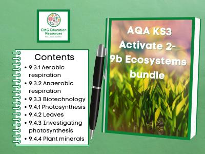 KS3 AQA Activate 2- 9b Ecosystems bundle