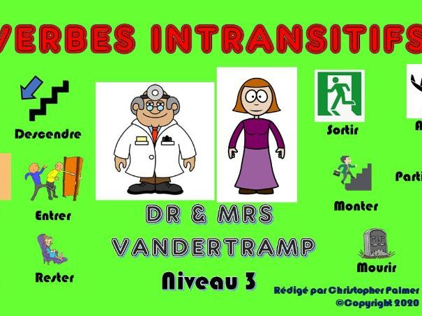 French: Quiz on intransitive verbs - Level 3
