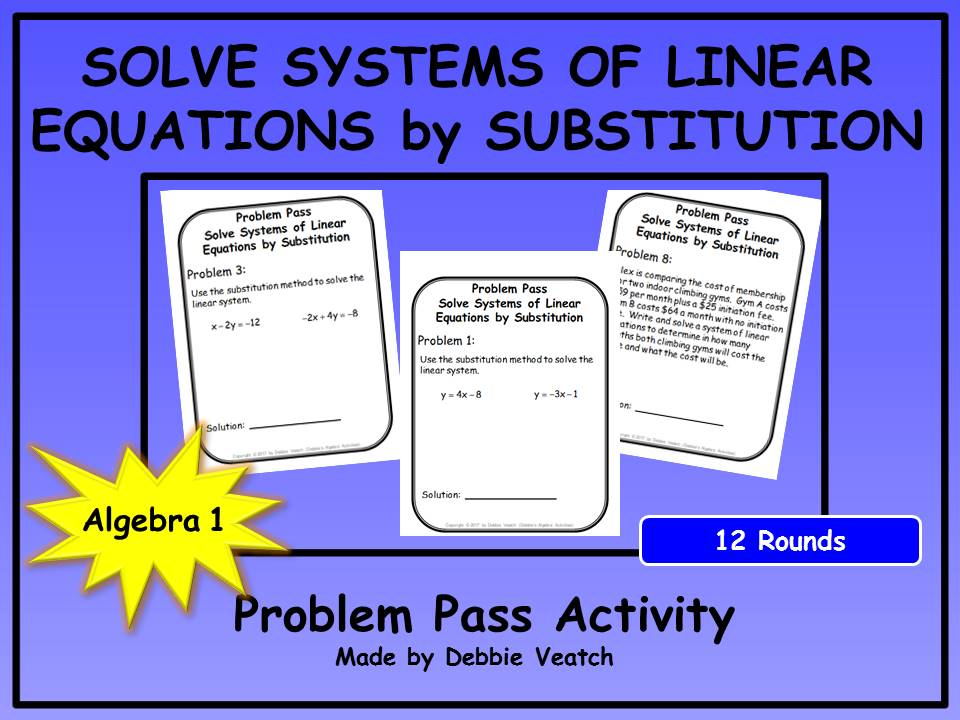 problem solving of linear equation