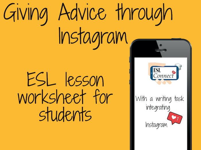 Instagram writing task: Giving Advice