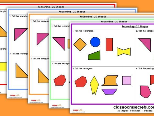 KS1 2D Shapes Test Practice Reasoning SATs Questions