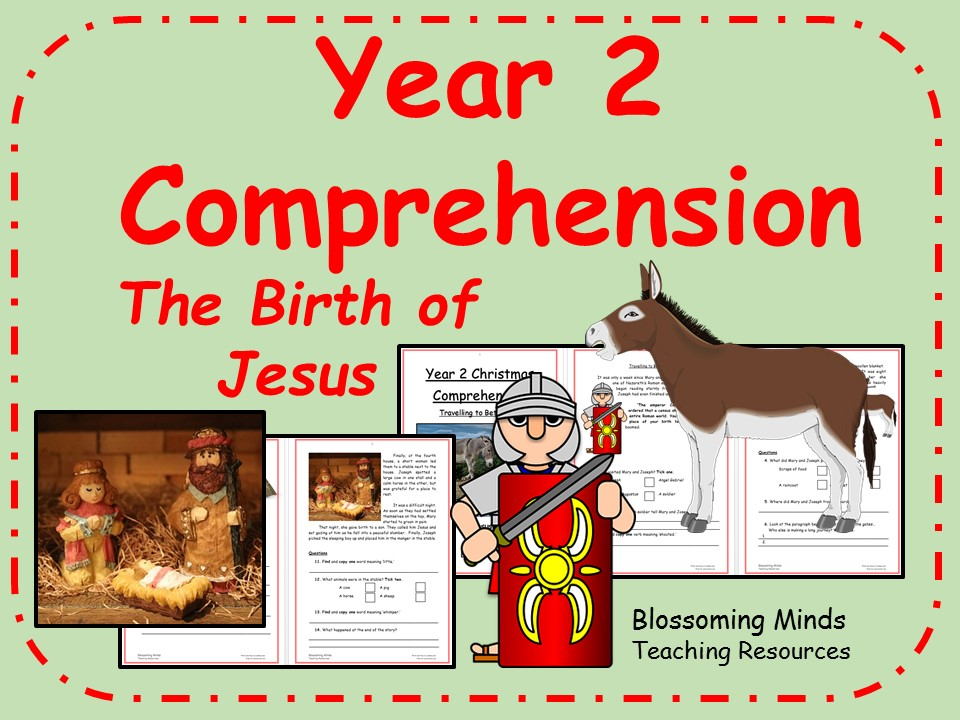 Year 2 Christmas comprehension - The birth of Jesus