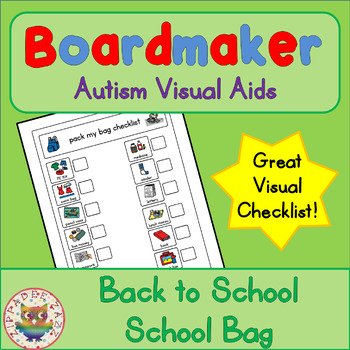 Back to School School Bag Checklist - Boardmaker Visual Aids for Autism