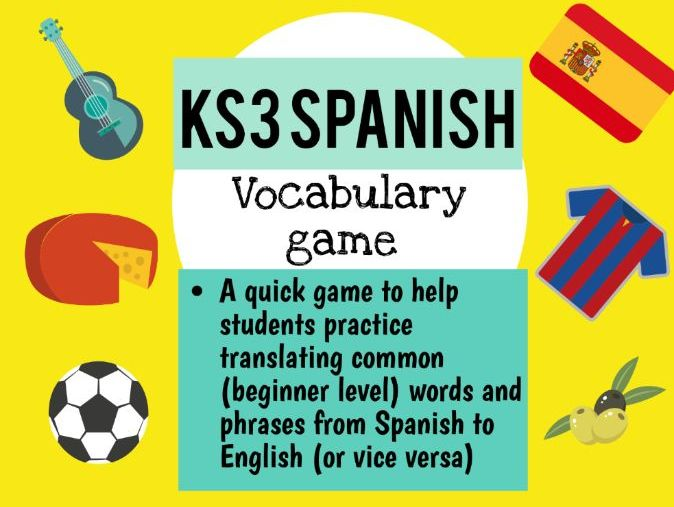 Spanish basic vocabulary/phrases game