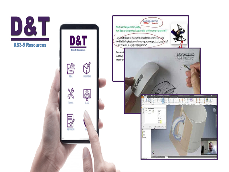 Link to Key Stage 3-5 Design & Technology (Free downloadable App)