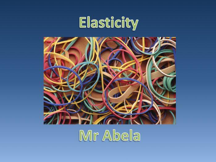 Elasticity Presentation