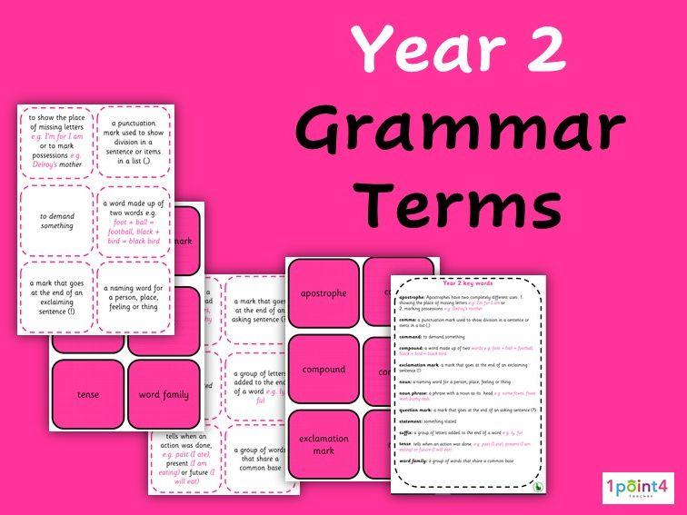 Year 2 Grammar Flashcards