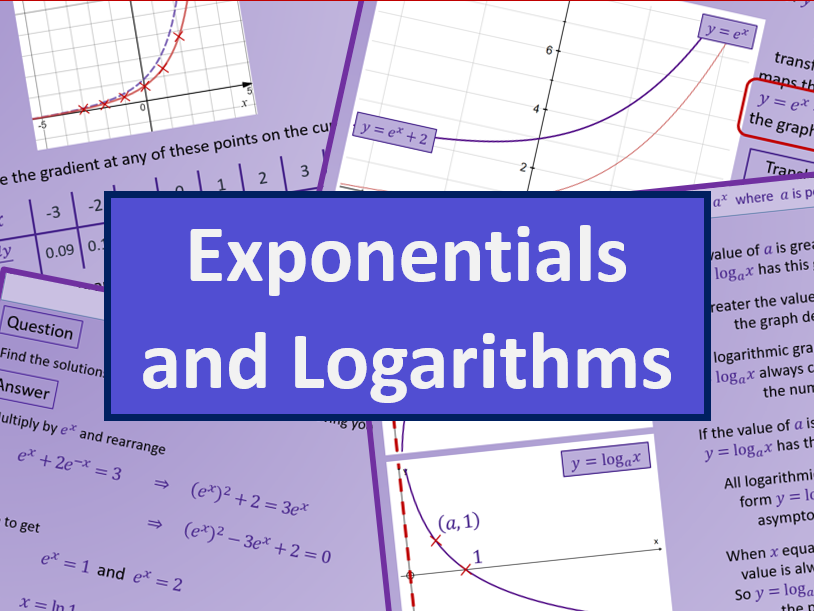 Exponential functions and Logarithms - A level AS Mathematics