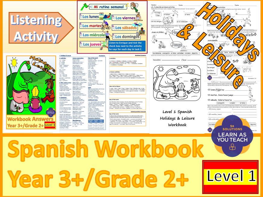 PRIMARY SPANISH WORKBOOK - HOLIDAYS & LEISURE