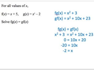 Composite & Inverse Functions