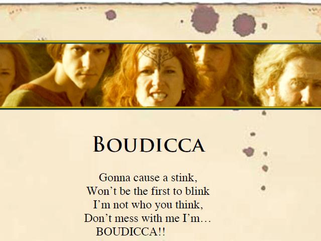 Boudicca + Romans assembly/playscript