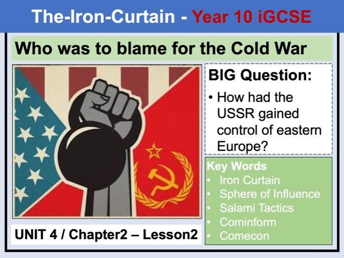 Cambridge  IGCSE History - Unit 4 - Chapter2 - Lesson2
