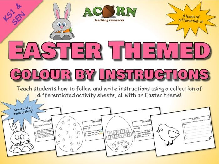 Easter Themed Colour by Instructions - Activities