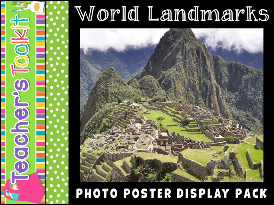 World Landmarks Photo Poster Display Pack
