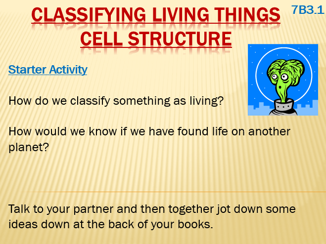 Cell Structure - Classifying Living Things