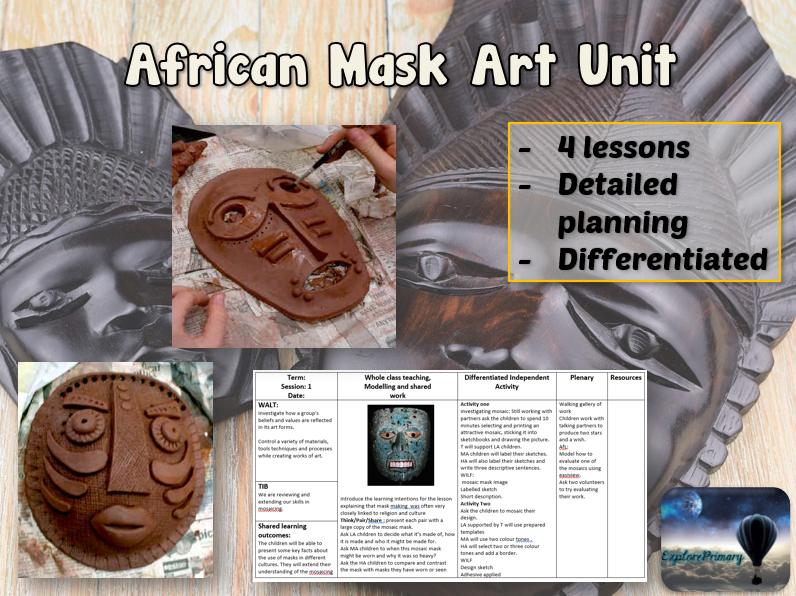 AFRICAN MASK Art Unit - 4 Outstanding Lessons