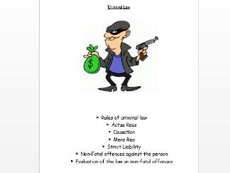 Criminal Law - Year 1 A Level