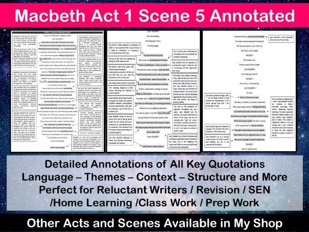 Macbeth Act 1 Scene 5 Annotated