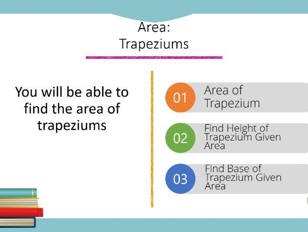 Area: Trapeziums Powerpoint (Higher GCSE)