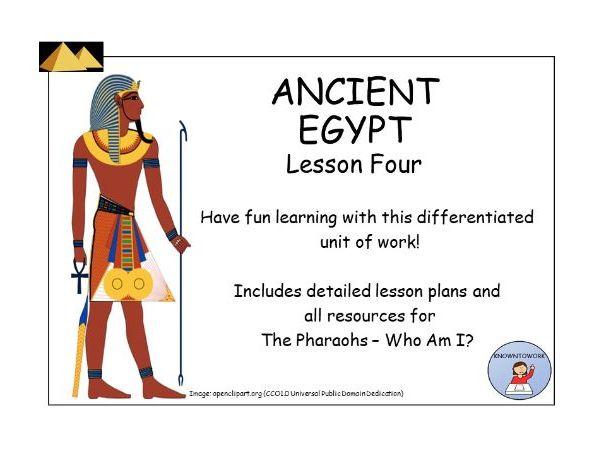 AncientEgypt:EgyptianPharaohsLessonandResources
